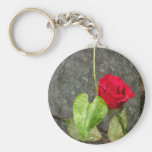 Rose Watercolor Keychain