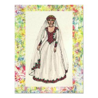 Rose Wedding Dress Invites