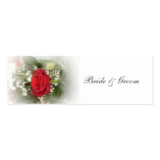 Rose Wedding Favor Tag Mini Business Card