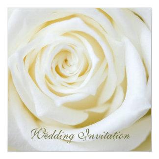 "Rose Wedding Invitation 5.25"" Square Invitation Card"