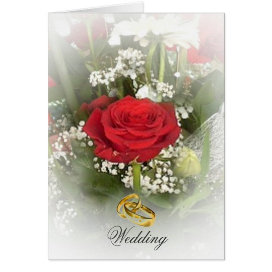 Rose Wedding Invitation Card