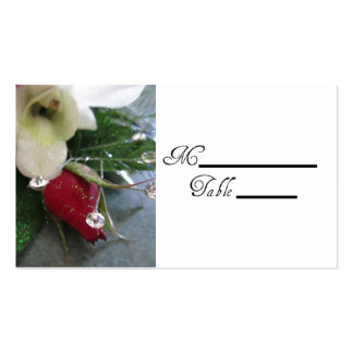 Rose Wedding Placecards Double-Sided Standard Business Cards (Pack Of 100)