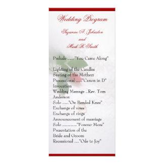 Rose Wedding Programs Rack Card Design