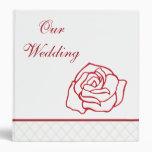 Rose Wedding Scrapbook Binder