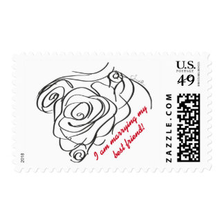 Rose Wedding Stamp