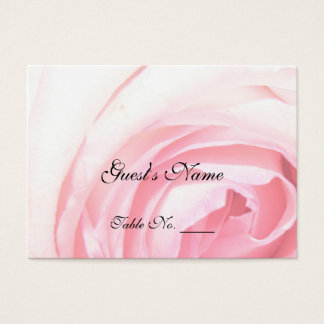 Rose Wedding Table Placement Cards