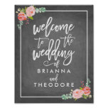 Rose Welcome Wedding Sign