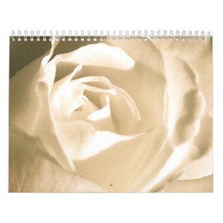Rose White Calendar