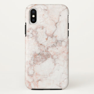 Rose White Marble iPhone X Case