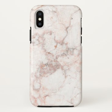 Beach Themed Rose White Marble iPhone X Case