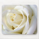 Rose White Mouse Pad