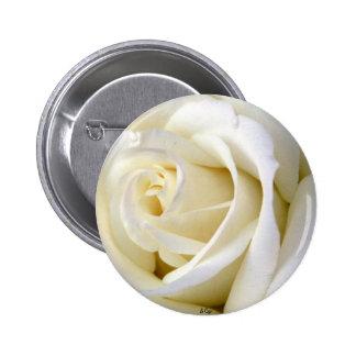 Rose White Pinback Button