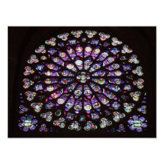 Rose Window Cathedral of Notre Dame, Paris, France Poster