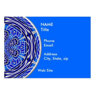 Rose Window Cobalt Business Card