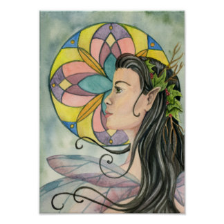 Rose Window Fairy Poster