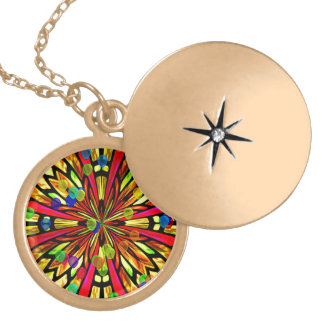 Rose Window Gold Plated Necklace
