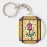 Rose Window Keychain