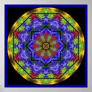 Rose Window Mandala Poster 1