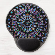 Rose Window Of Notre Dame Gel Mousepad at Zazzle
