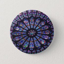 Rose Window Paris Pinback Button