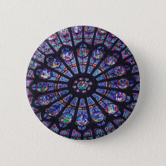 Rose Window Paris Pinback Button