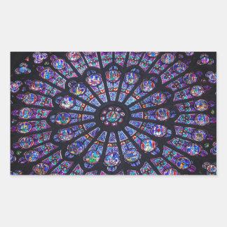 Rose Window Paris Rectangular Sticker