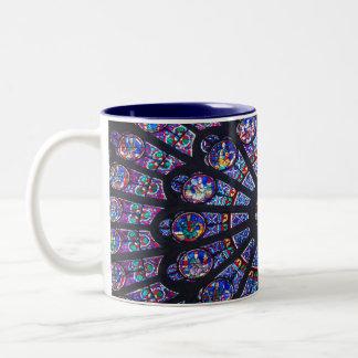 Rose Window Paris Two-Tone Coffee Mug