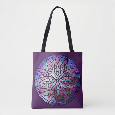 kellygalloway Rose Window - Purple All-Over-Print Tote Bag