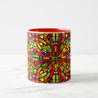 Rose Window Two-Tone Coffee Mug