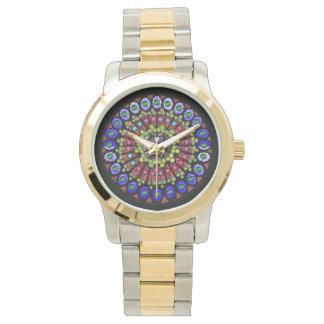 rose window wrist watch