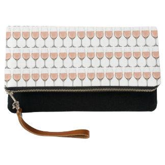Rosé wine glass clutch