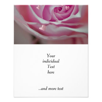 rose with hearts pink personalized flyer