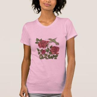 Rose with Hummingbird Tee Shirt