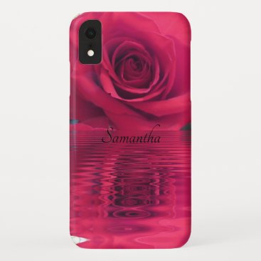 Rose with Special effects Personalized iPhone XR Case
