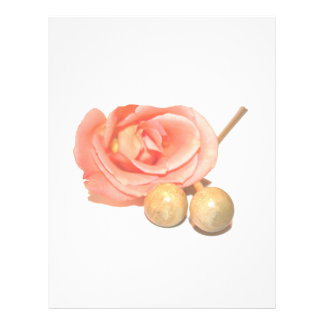 """Rose with wooden percussion bell mallets faded cut 8.5"""" x 11"""" flyer"""