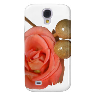 Rose with wooden percussion bell mallets galaxy s4 case