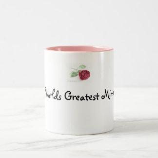 rose, Worlds Greatest Mimi Two-Tone Coffee Mug