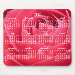 Rose Yearly Calendar 2018 Mouse Pads