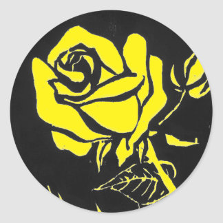 """""""Rose Yellow"""" Floral Sticker"""