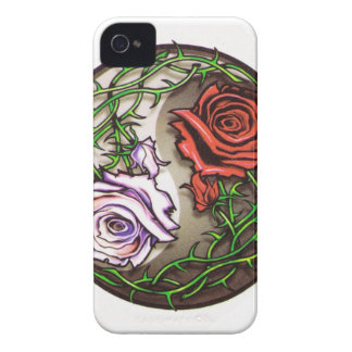 Rose yingyang tattoo design Case-Mate iPhone 4 case