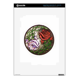 Rose yingyang tattoo design iPad 3 decals