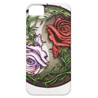 Rose yingyang tattoo design iPhone SE/5/5s case
