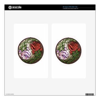 Rose yingyang tattoo design kindle fire skin