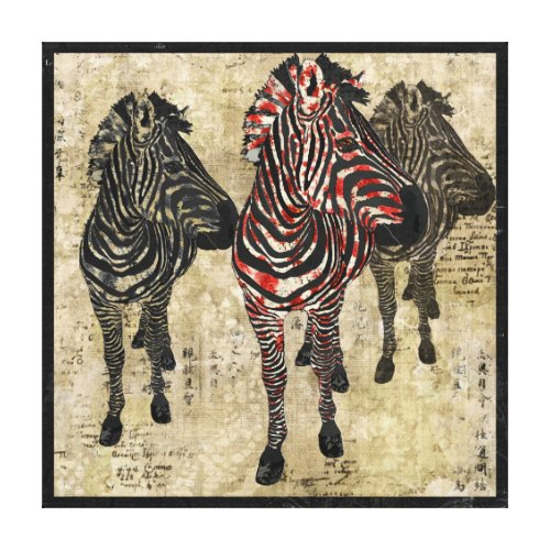 Rose Zebra Shadows Art Canvas Stretched Canvas Print