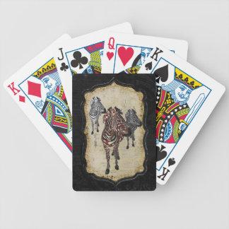 Rose Zebra Shadows Card Deck
