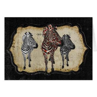 Rose Zebra Shadows Notecard Greeting Cards