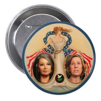 Roseanne Barr / Cindy Sheehan 2012 3 Inch Round Button