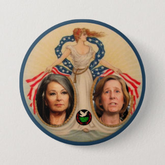 Roseanne Barr / Cindy Sheehan 2012 Button