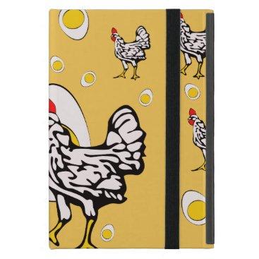 Roseanne Chicken, Retro Chickens Case For iPad Mini