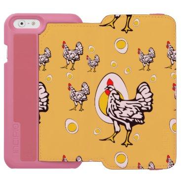 Roseanne Chicken, Retro Chickens iPhone 6/6s Wallet Case